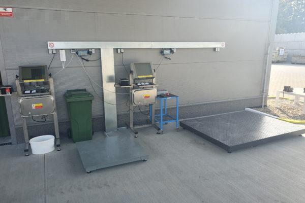 Výkup druhotných surovin Barko, dotykové terminály se softwarem INDAS.